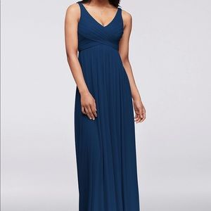 Bridesmaid Dress Cowl Back Size 18 in Marine